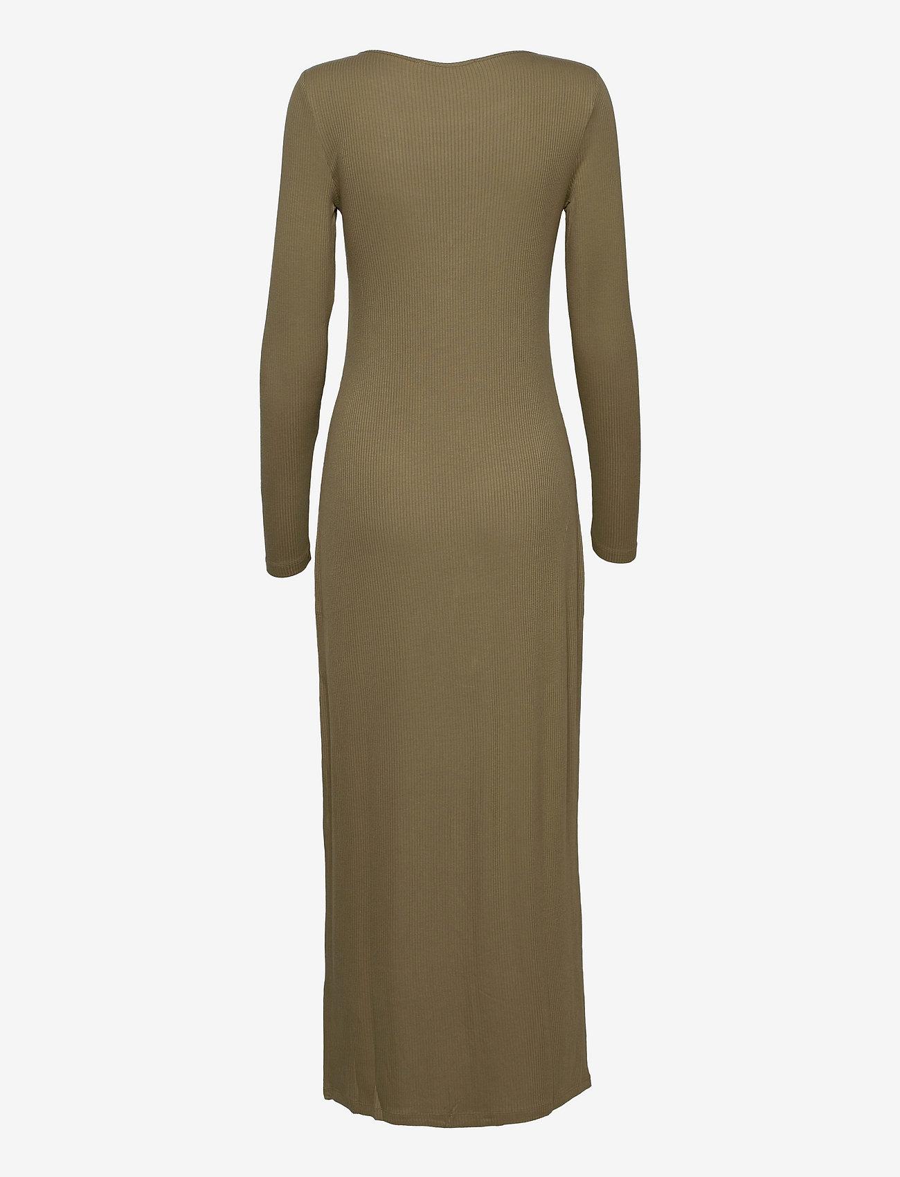 Samsøe Samsøe - Patty long dress 14119 - kveldskjoler - covert green - 1