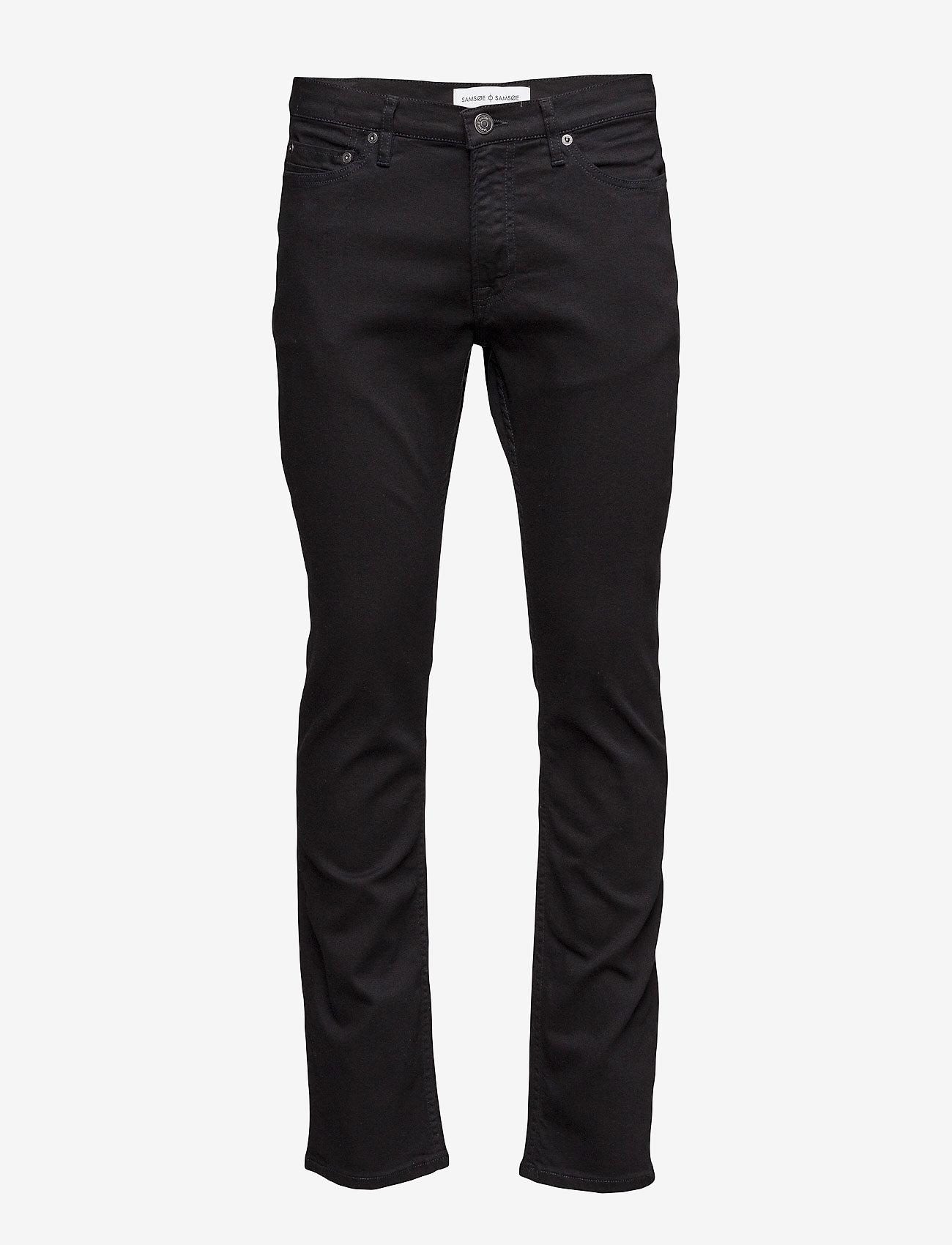 Samsøe Samsøe - Stefan jean 5890 - džinsa bikses ar tievām starām - black rinse - 1