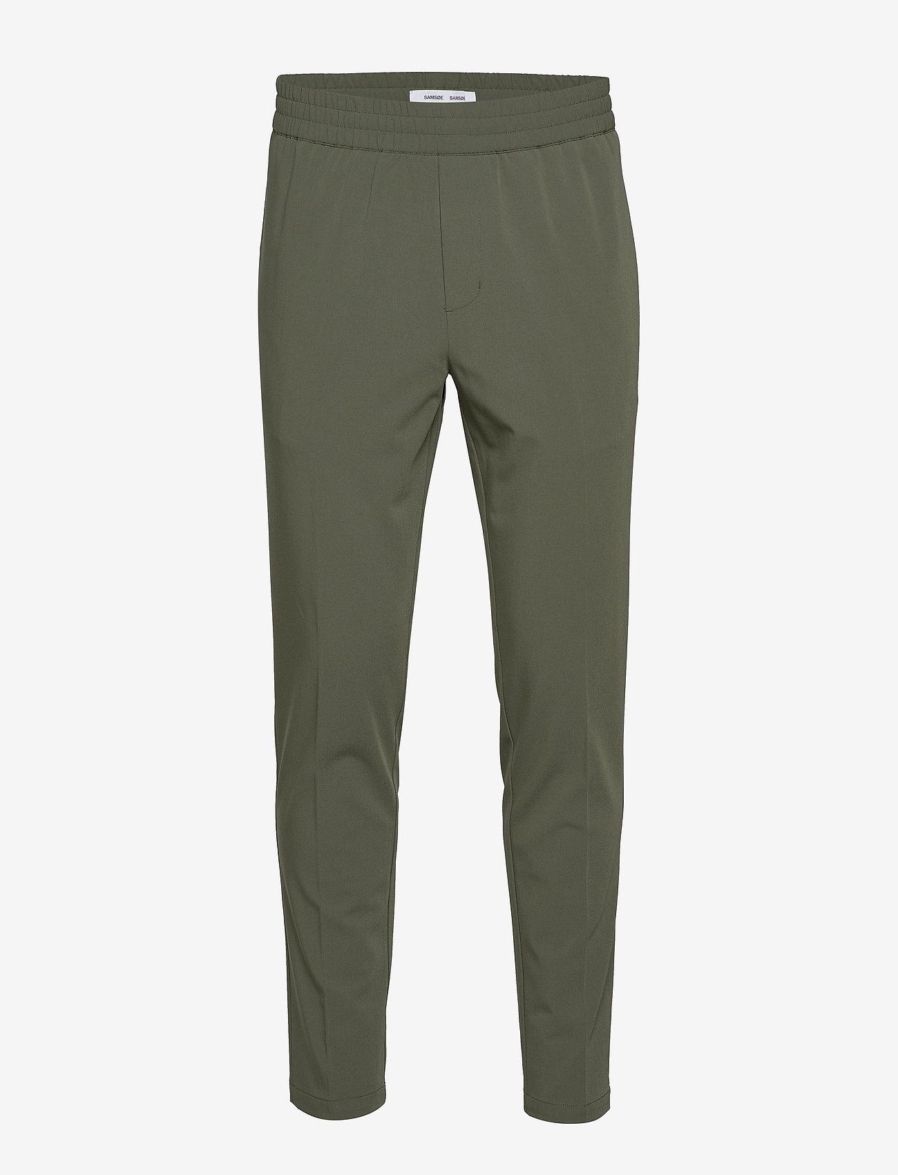 Samsøe Samsøe - Smithy trousers 10931 - spodnie na co dzień - thyme - 1