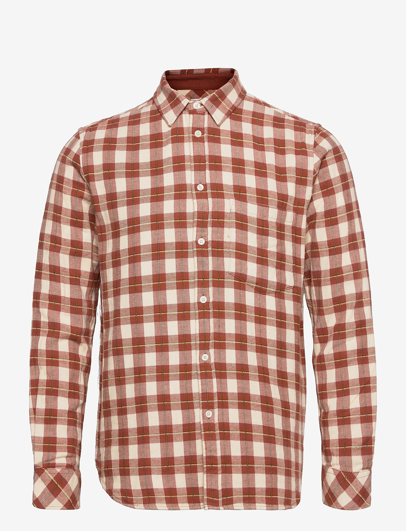 Samsøe Samsøe - Liam NP shirt 12961 - denimowe koszulki - brandy brown ch. - 0