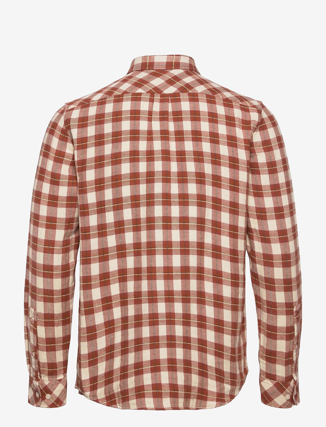 Samsøe Samsøe - Liam NP shirt 12961 - denimowe koszulki - brandy brown ch. - 1