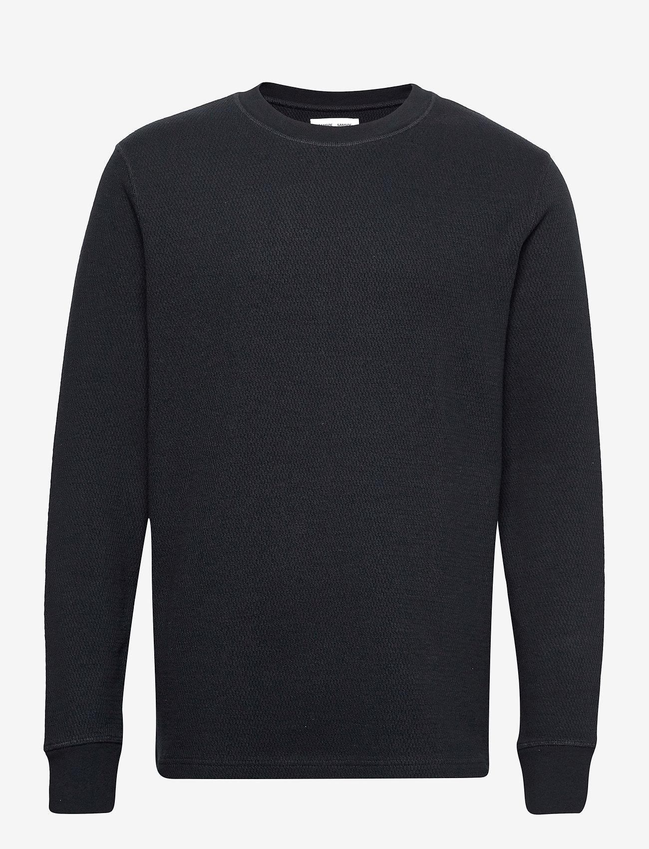 Samsøe Samsøe - Chidi t-shirt ls 11597 - t-shirts basiques - sky captain - 0