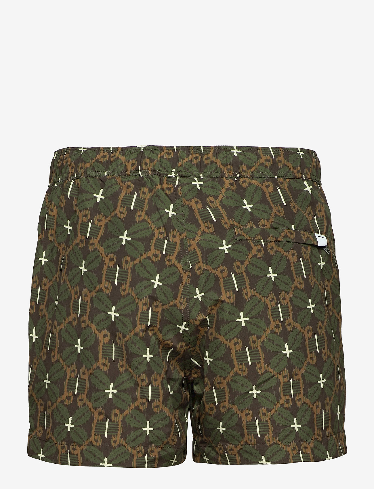 Samsøe Samsøe - Mason swim shorts aop 13082 - shorts de bain - chocolate salaba - 1
