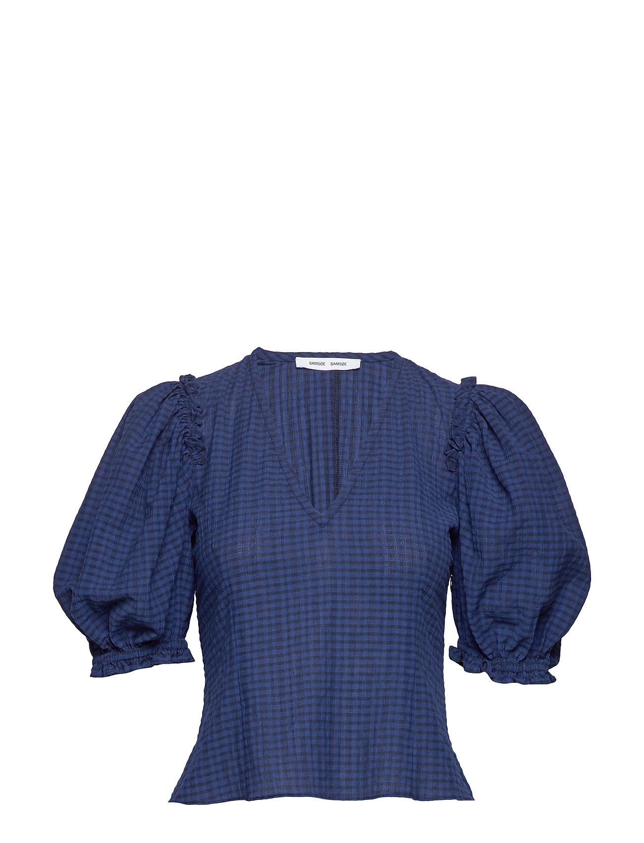 Samsøe & Samsøe Petulie blouse 12732 - BLUE DEPTHS CHECK