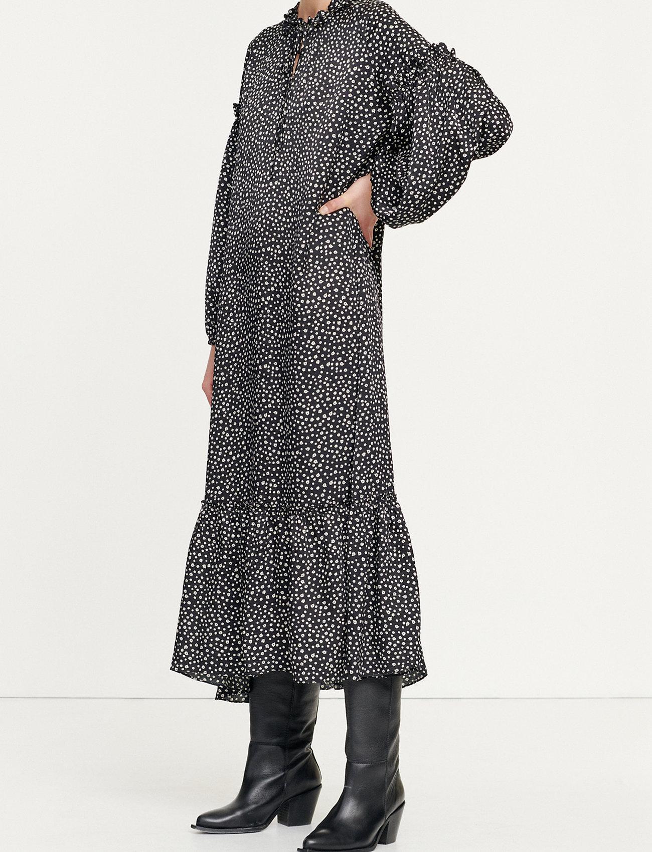Samsøe Samsøe Vivre dress aop 12887 - Dresses BLACK BLOSSOM