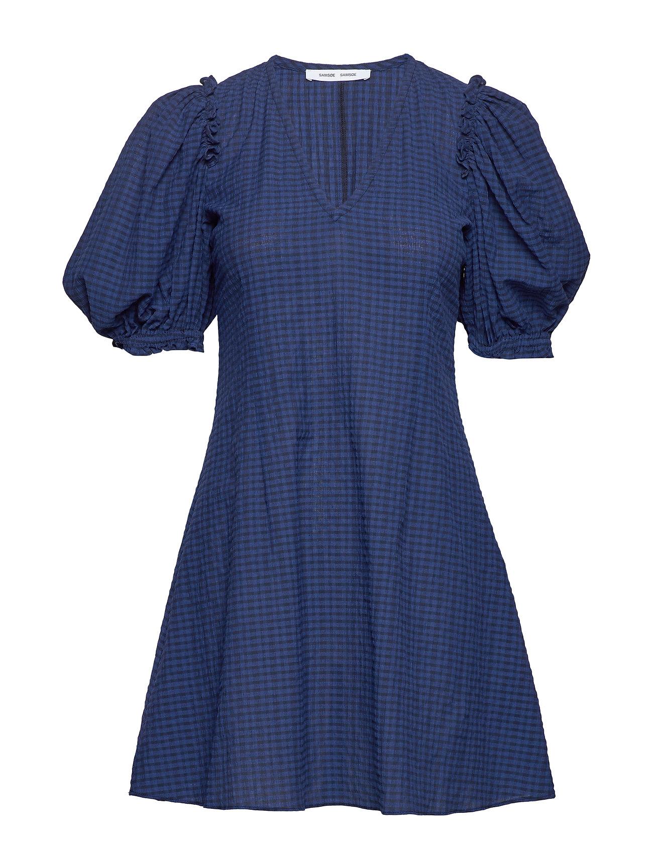 Samsøe & Samsøe Petulie dress 12732 - BLUE DEPTH CHECK