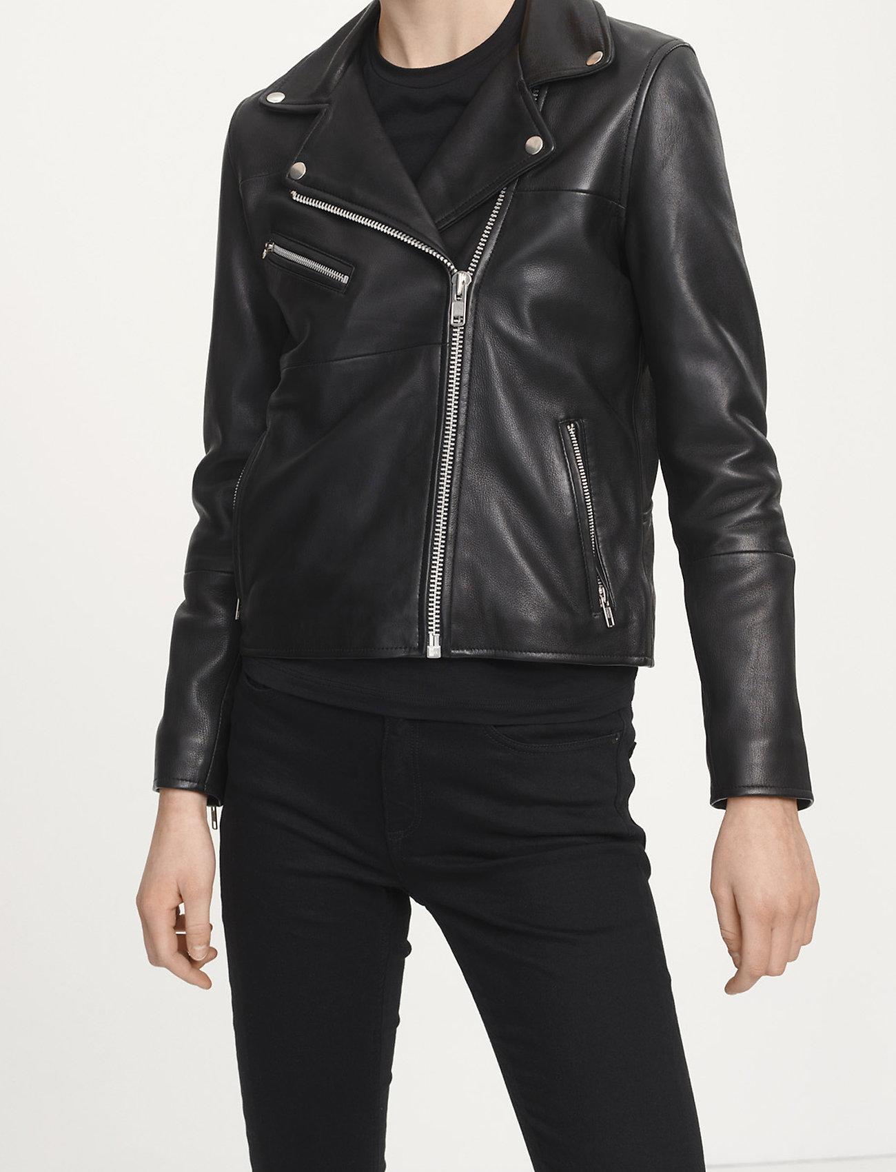 Samsøe Samsøe - Tautou jacket 2771 - kurtki skórzane - black - 0