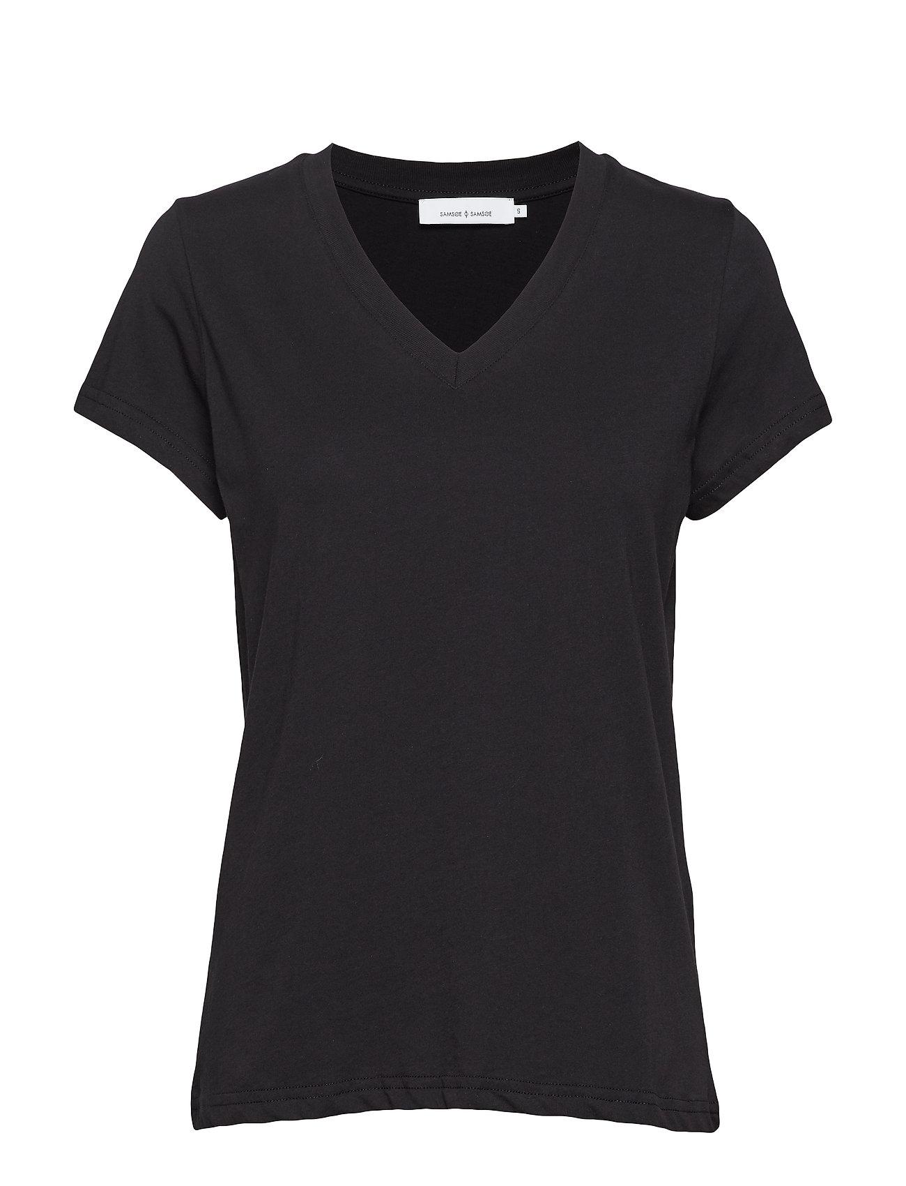Samsøe & Samsøe Solly v-n t-shirt 205 - BLACK
