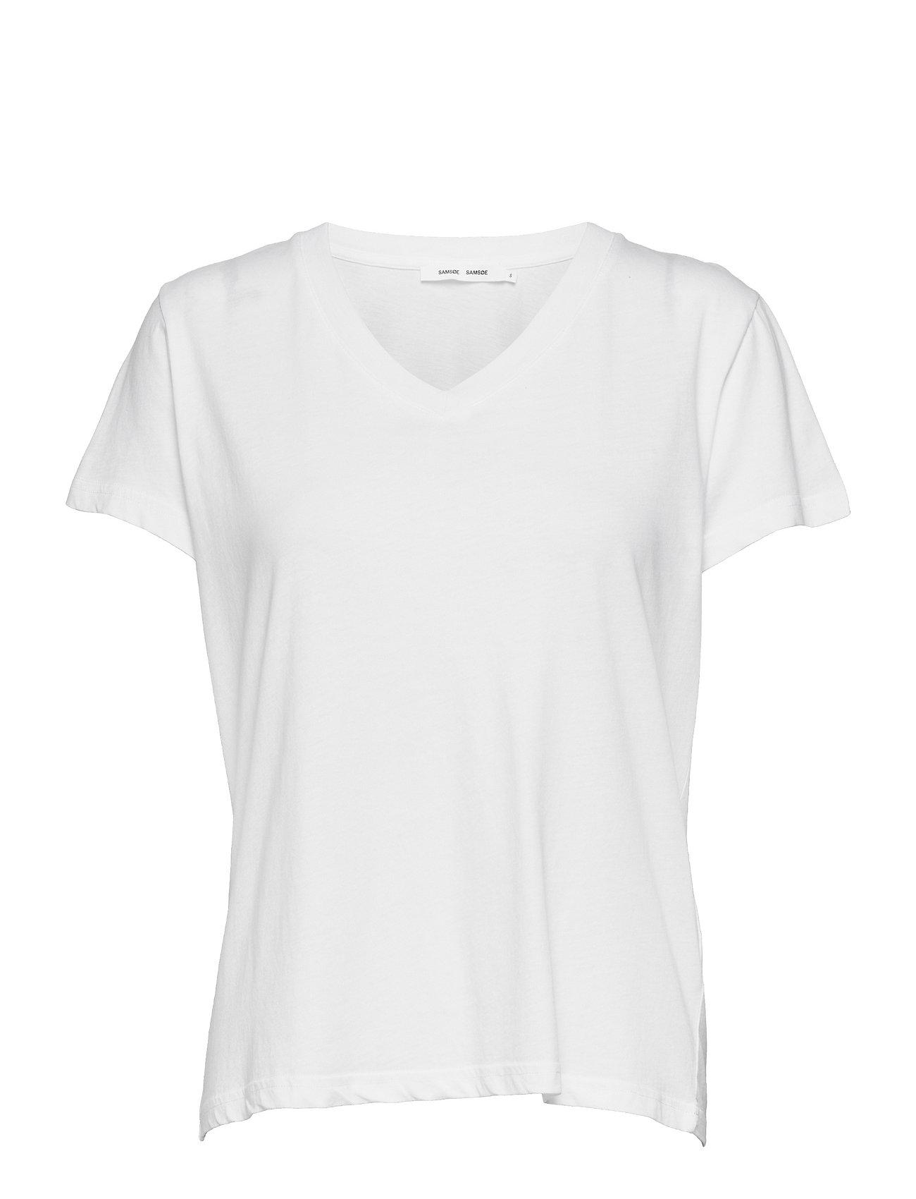 Samsøe & Samsøe Solly v-n t-shirt 205 - WHITE