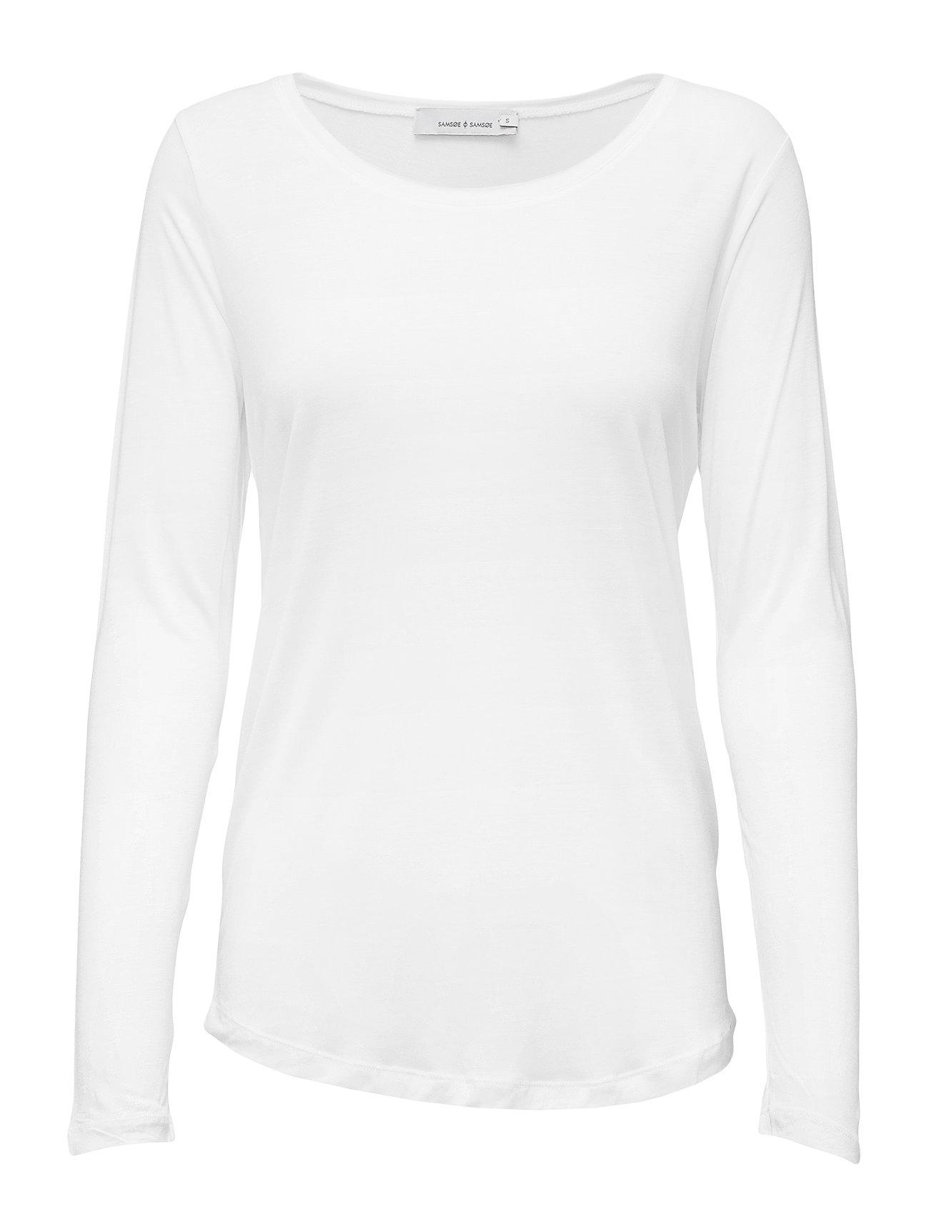 Amie Ls 2085 Langærmet T shirt Hvid Samsøe & Samsøe