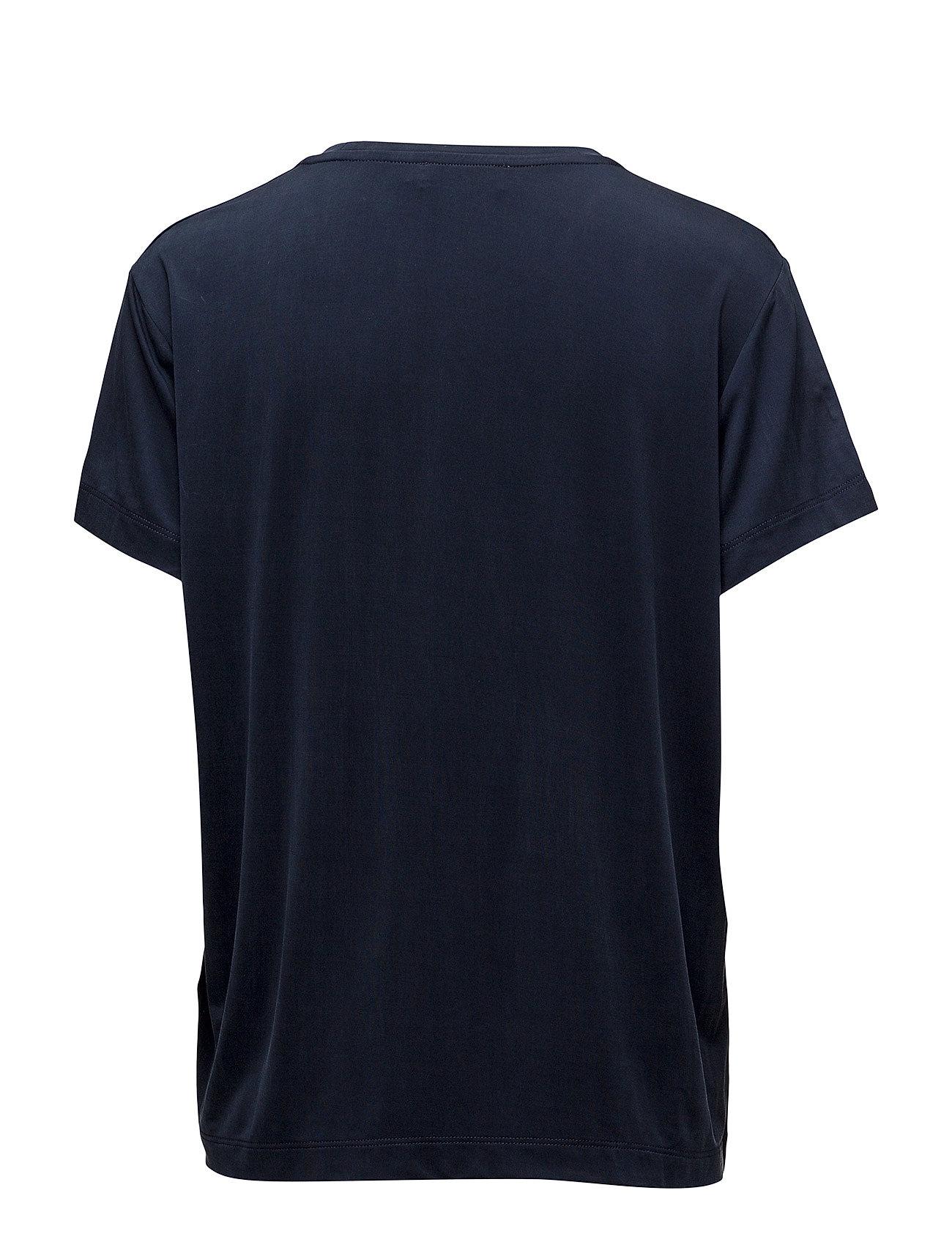 Siff Tee 6202 T shirt Top Blå Samsøe & Samsøe