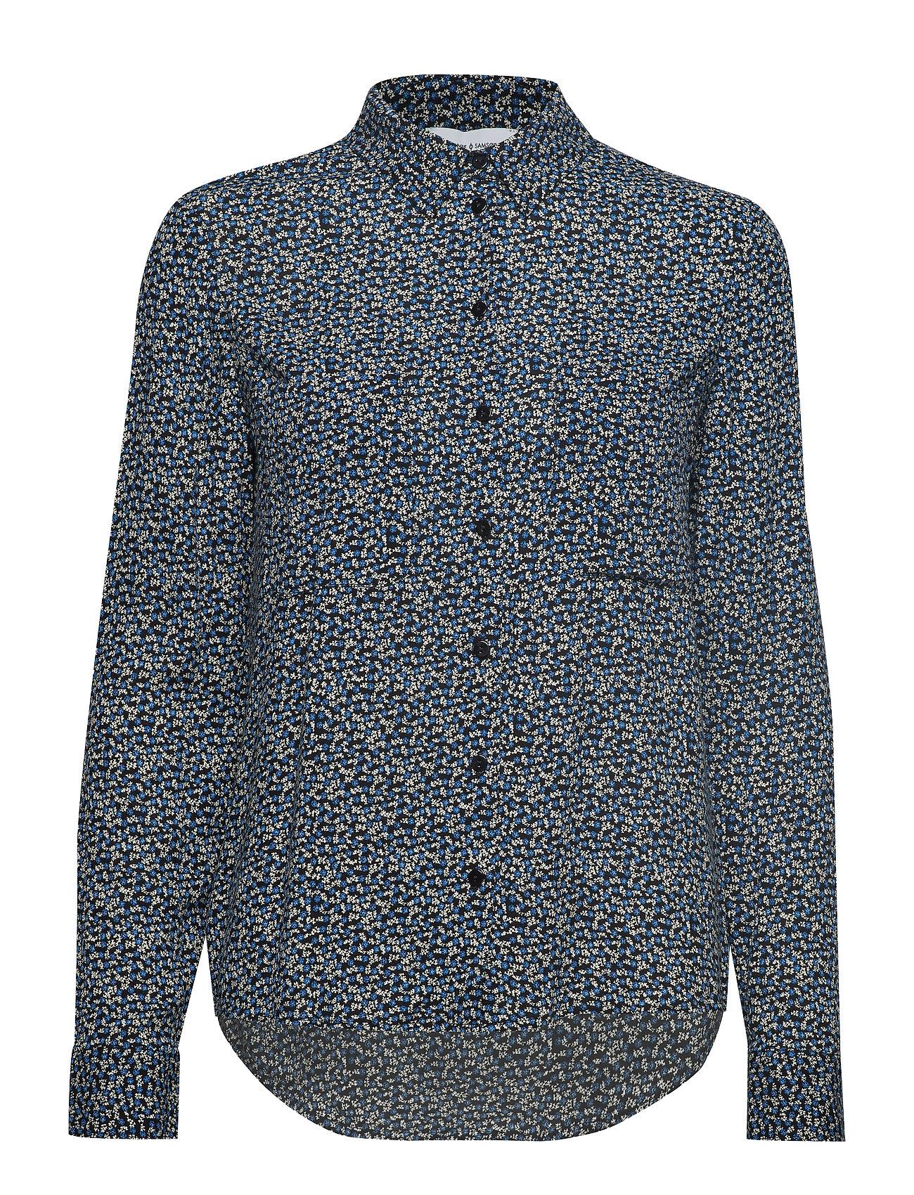 Samsøe & Samsøe Milly shirt aop 7201 - BLUE TWIGGY
