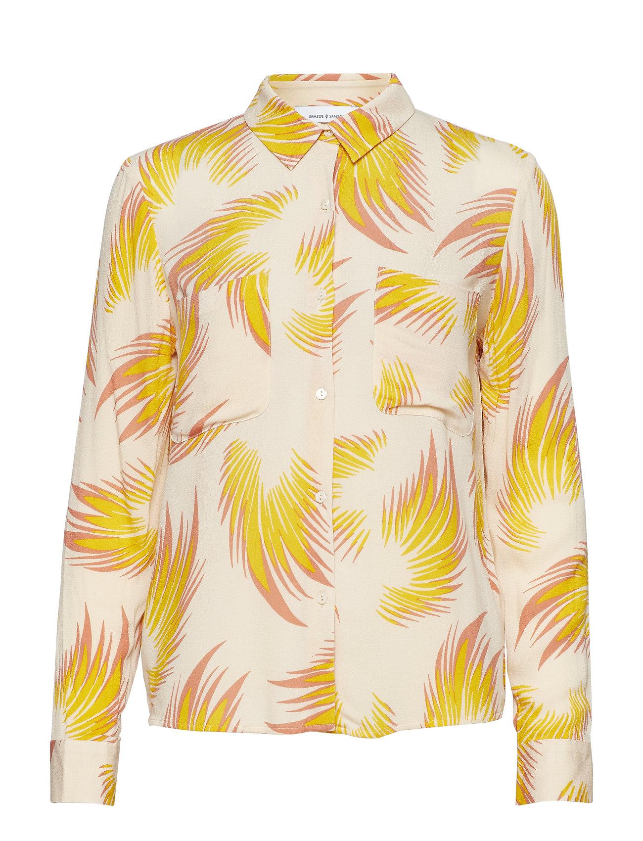 Samsøe & Samsøe Milly shirt aop 7201 - SUN FEATHER