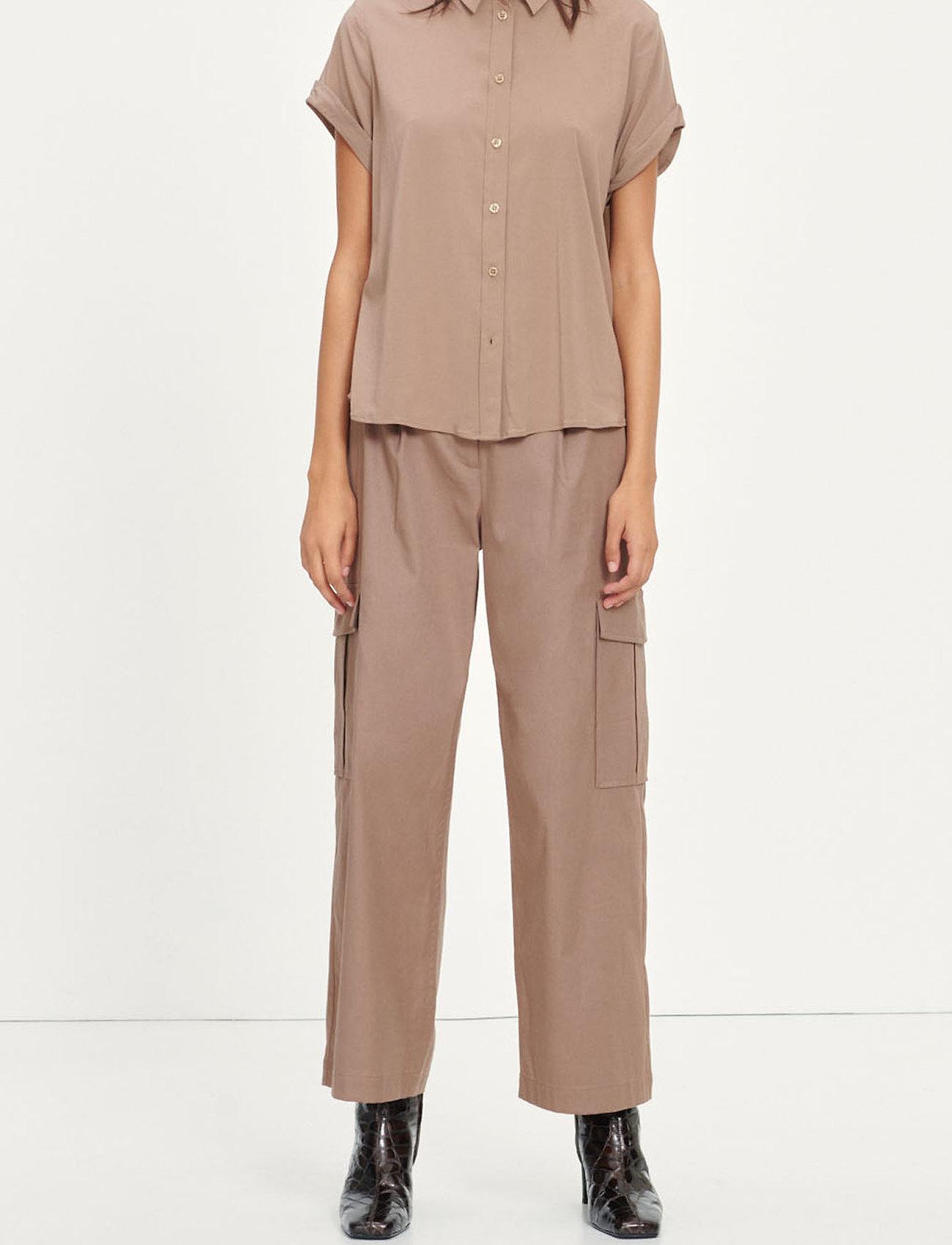 Samsøe Samsøe - Majan ss shirt 9942 - kortärmade skjortor - caribou - 0