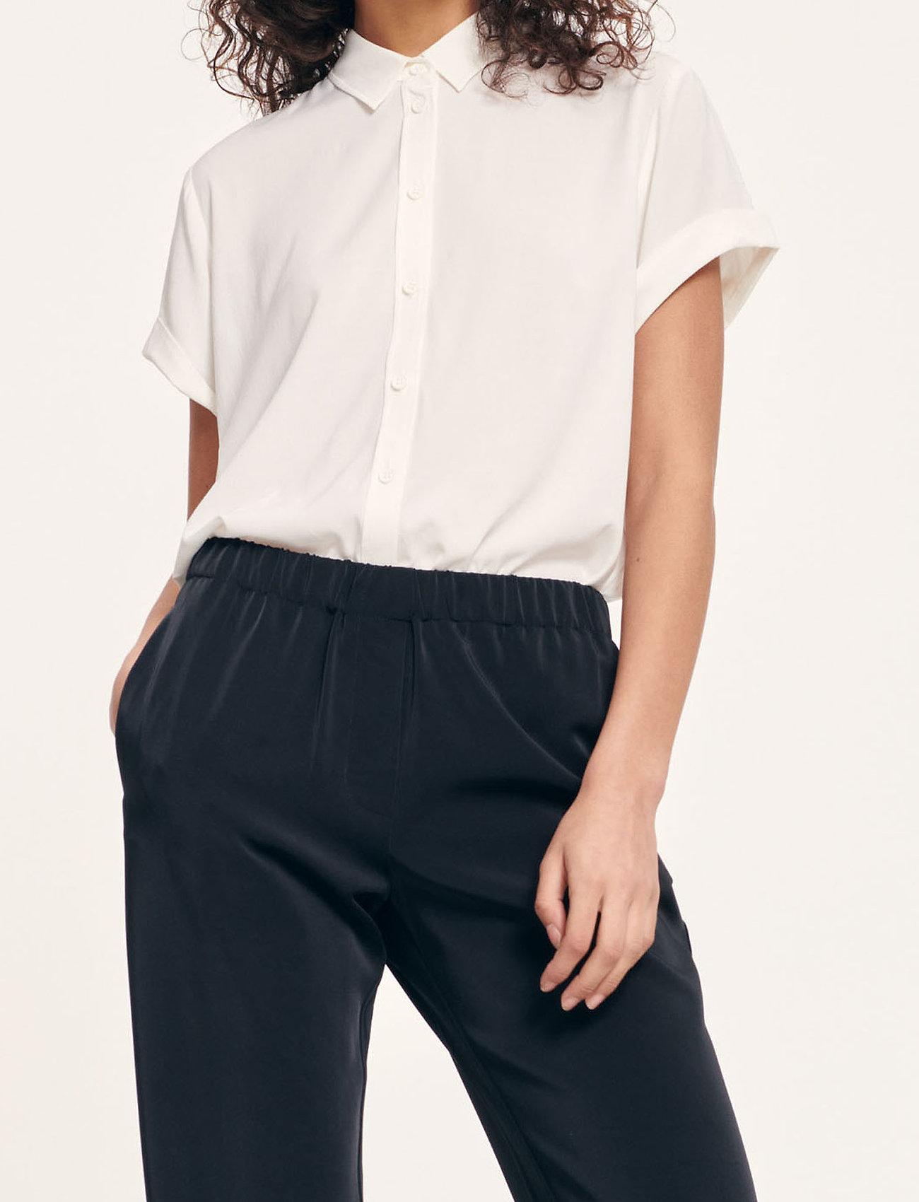 Samsøe Samsøe - Majan ss shirt 9942 - kortärmade skjortor - clear cream - 0