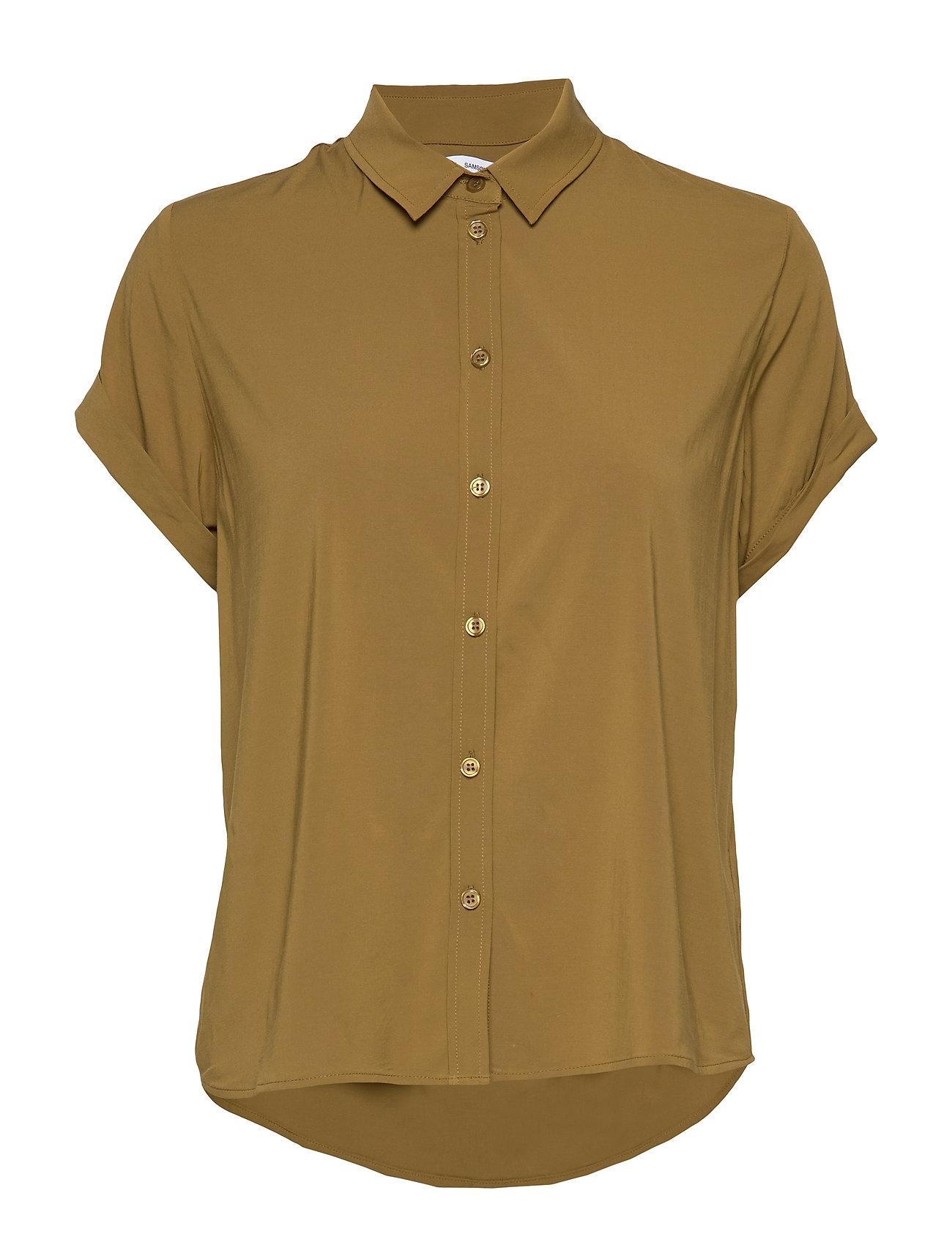 Samsøe Samsøe Majan ss shirt 9942 - GREEN KHAKI