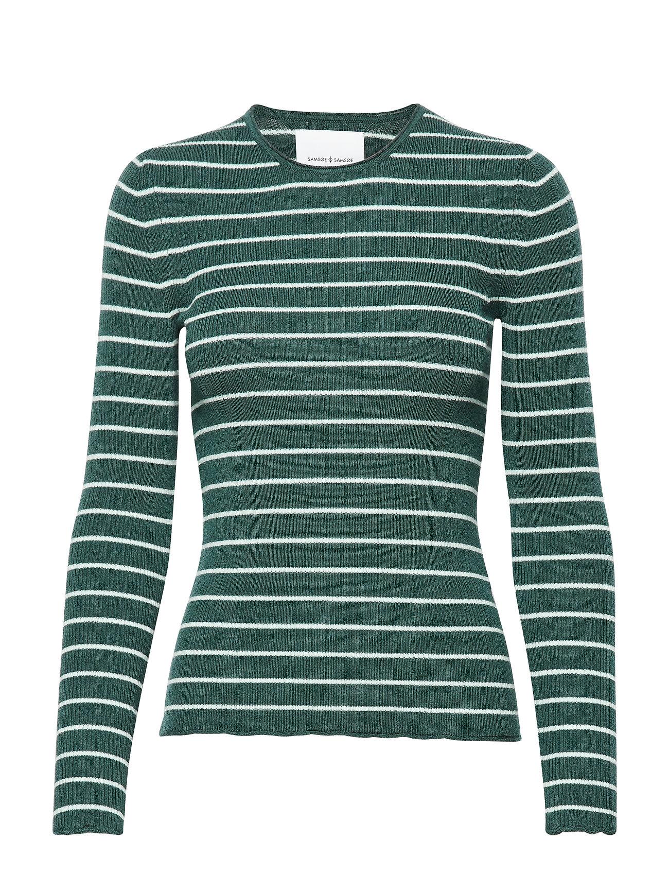 Teri Crew Neck St 11201 Langærmet T shirt Grøn Samsøe Samsøe