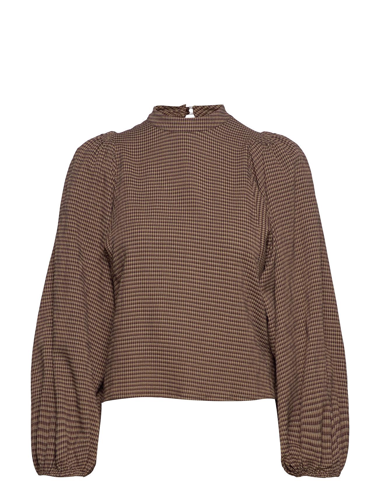 Samsøe & Samsøe Harriet blouse 11238 - ARGAN CHECK