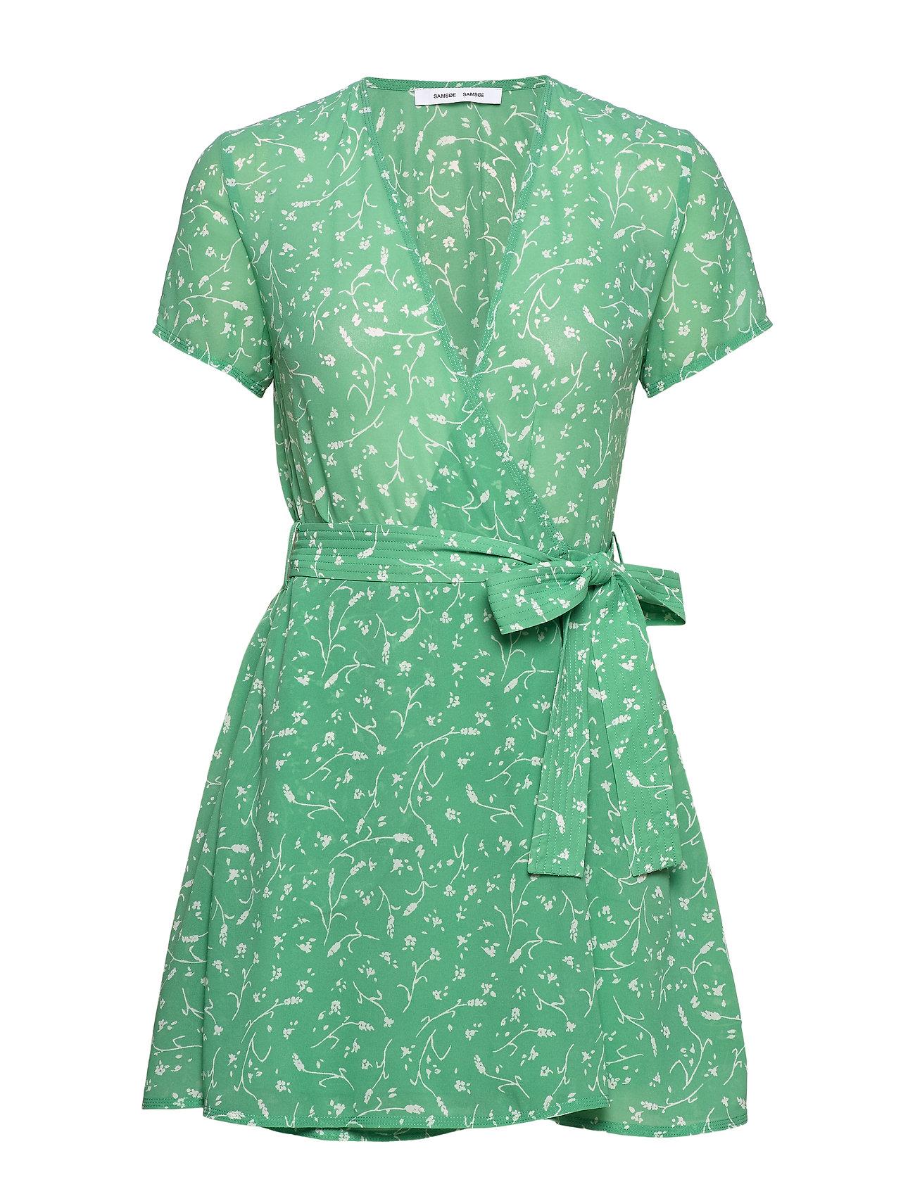 Samsøe Samsøe Klea short dress aop 6621 - FEUILLES MENTHE
