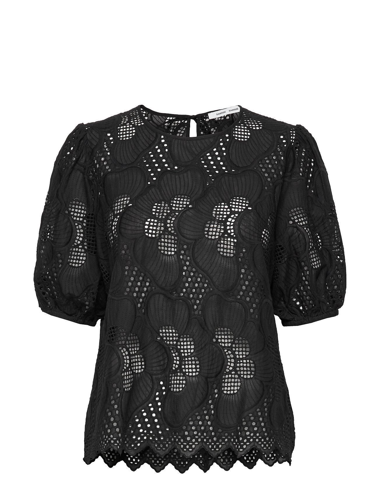 Samsøe Samsøe Juni ss blouse 11455 - BLACK