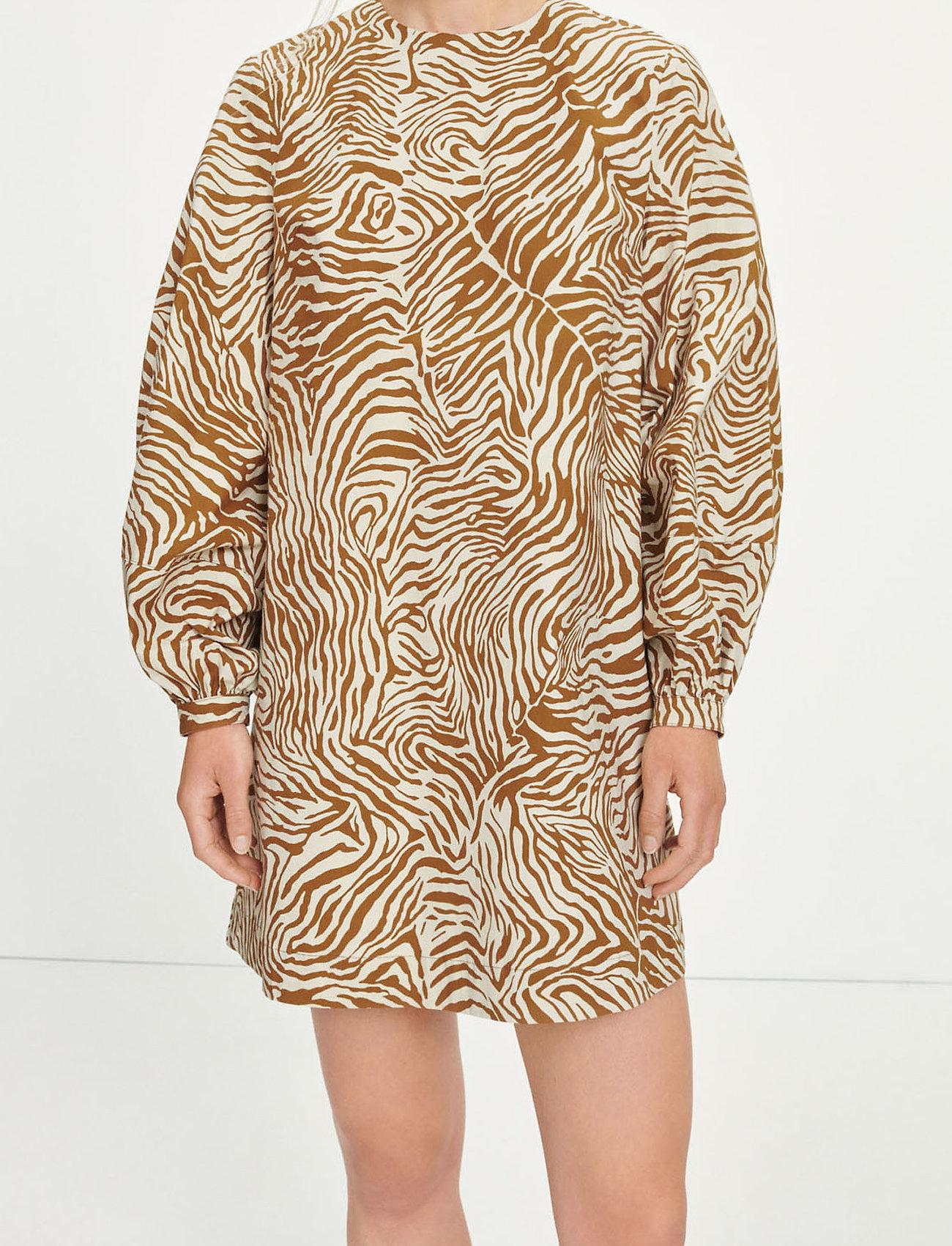 Samsøe Samsøe - Aram short dress aop 10783 - summer dresses - mountain zebra - 0