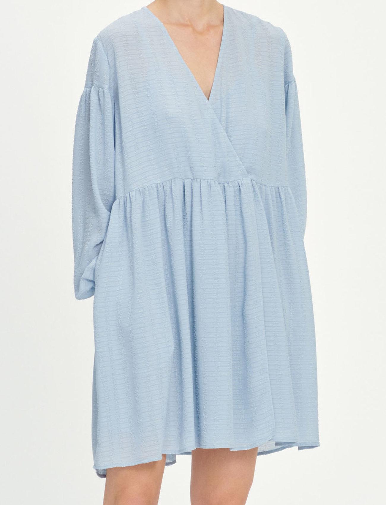 Samsøe Samsøe - Jolie short dress 12697 - summer dresses - dusty blue - 0