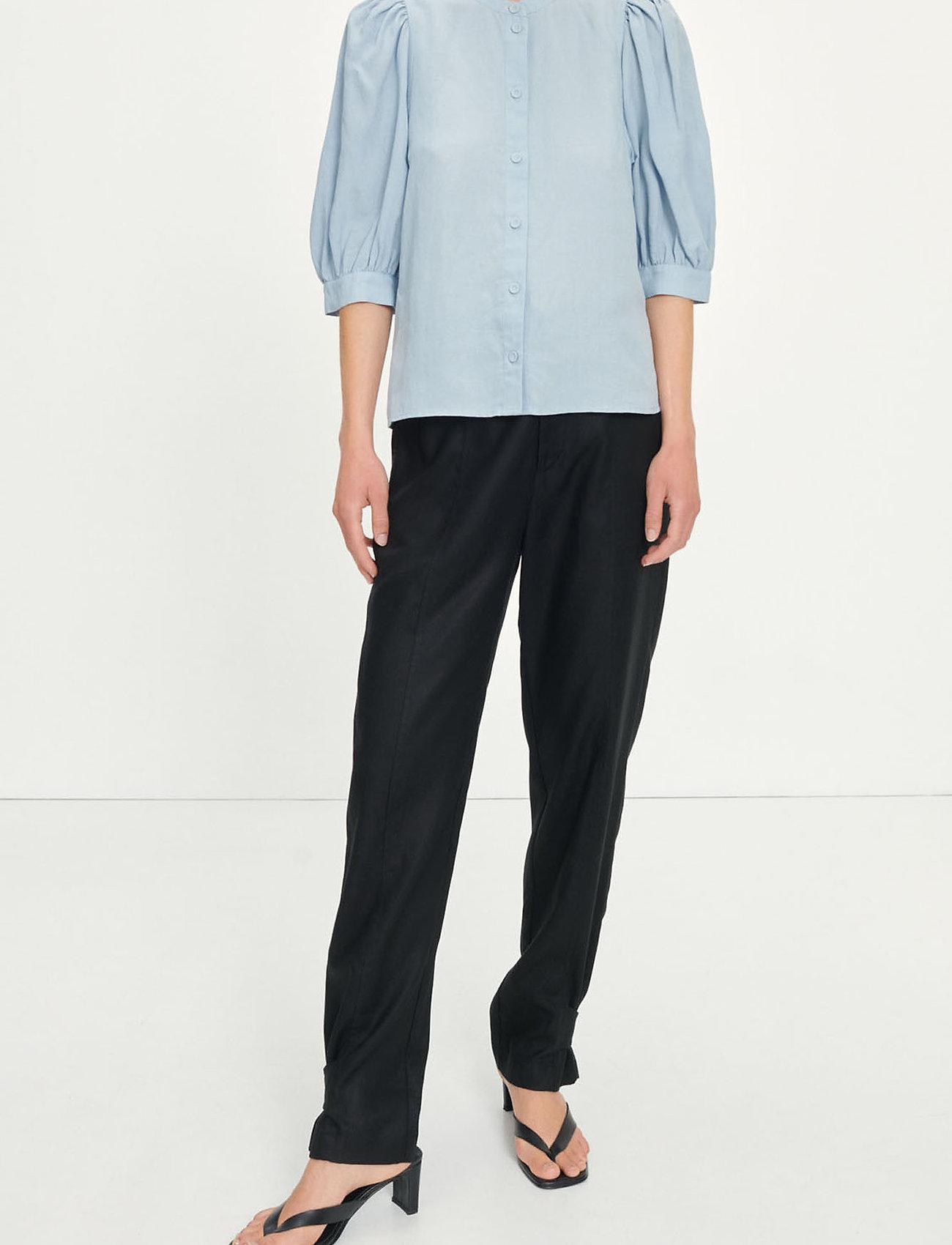 Samsøe Samsøe - Mejse shirt 12771 - kortærmede skjorter - dusty blue - 0