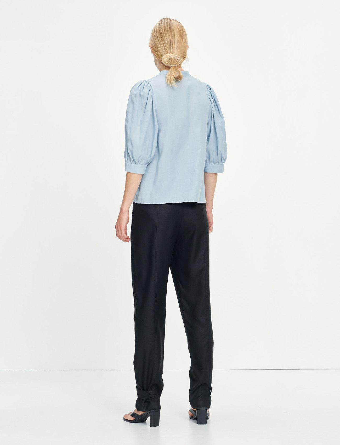 Samsøe Samsøe - Mejse shirt 12771 - kortærmede skjorter - dusty blue - 3