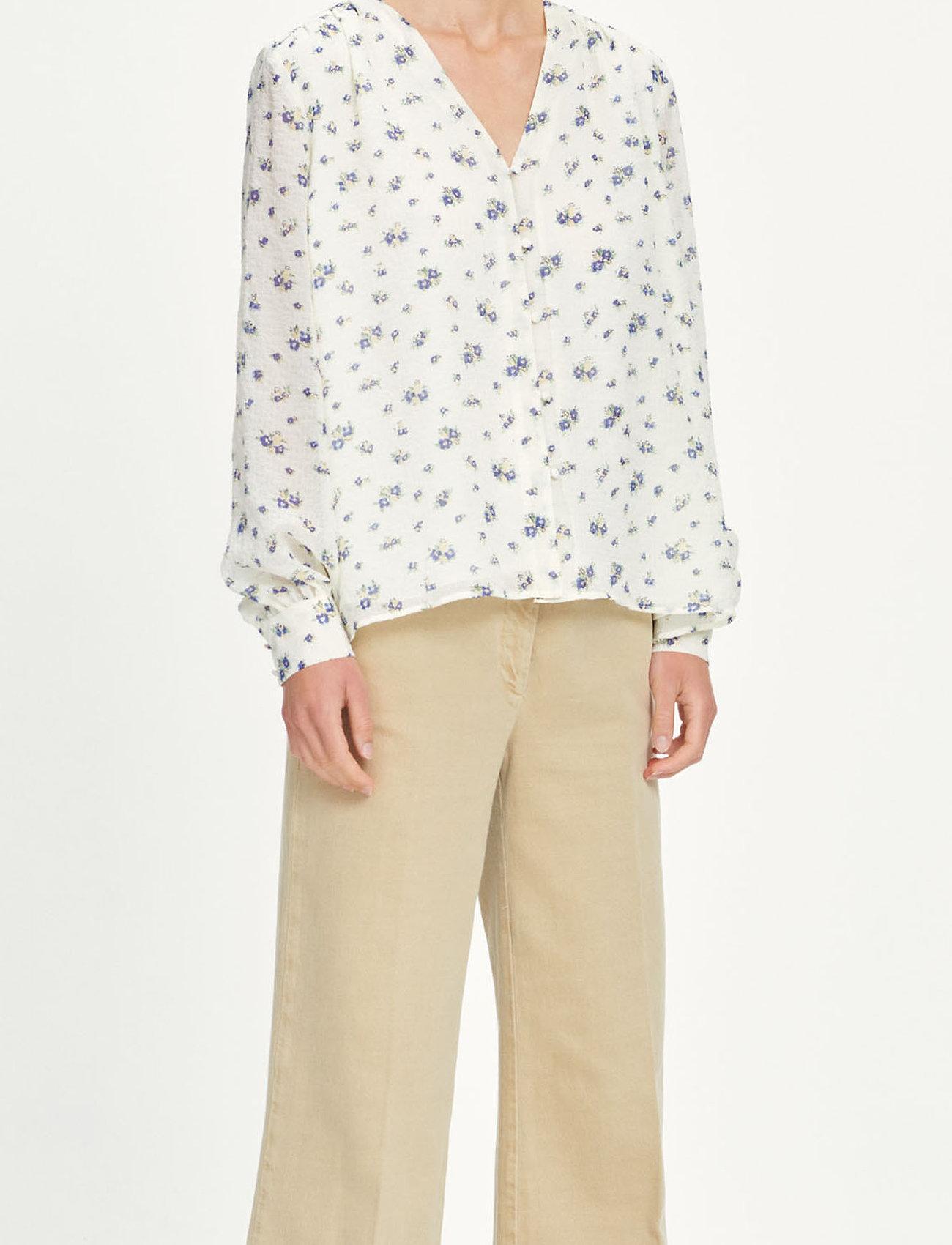 Samsøe Samsøe - Jetta shirt aop 12888 - langærmede bluser - sun bouquet - 0