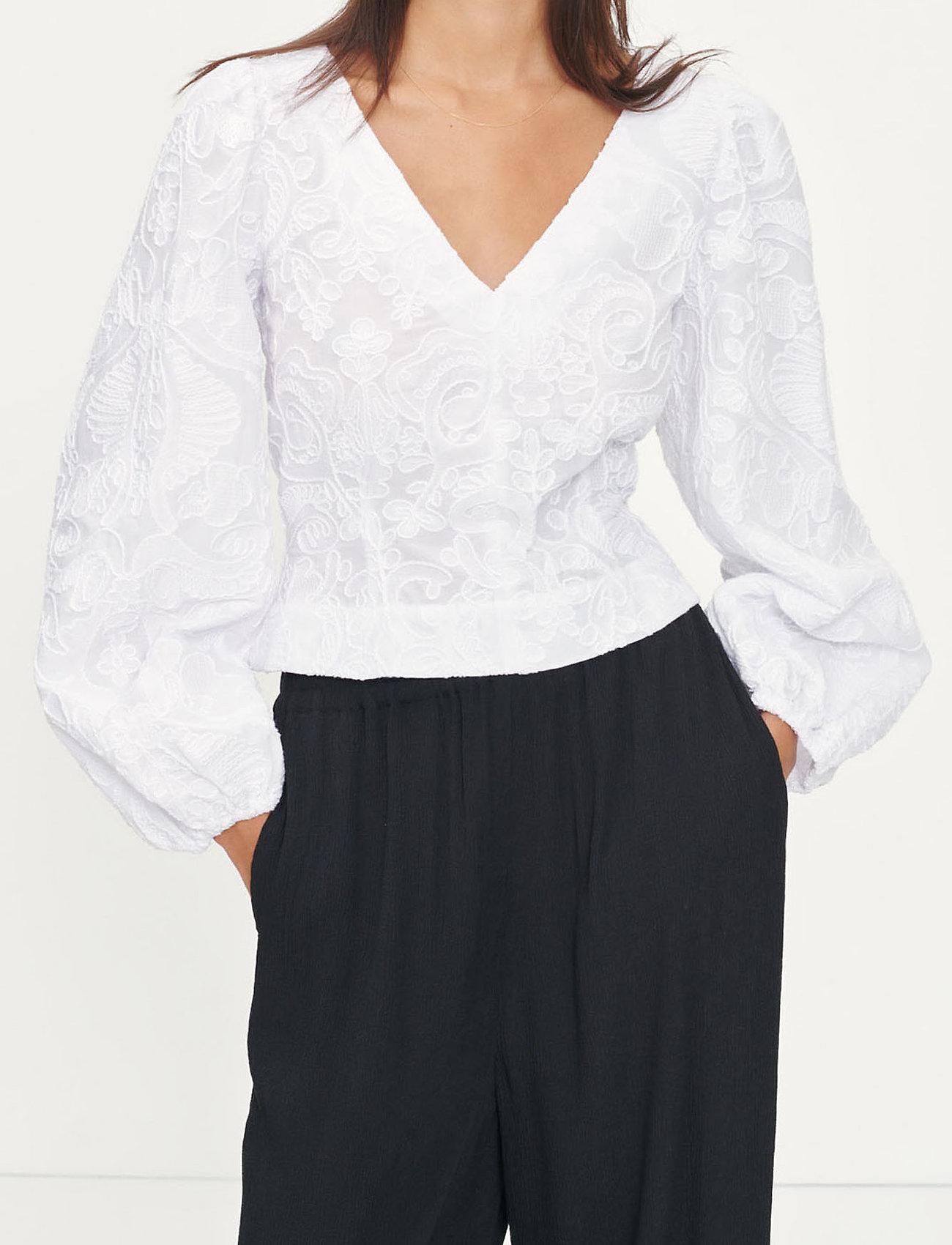 Samsøe Samsøe - Anai blouse 13089 - long sleeved blouses - bright white - 0