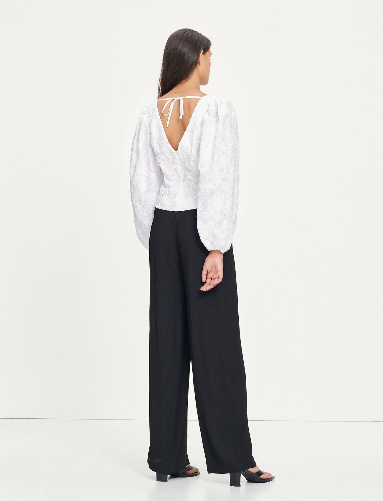 Samsøe Samsøe - Anai blouse 13089 - long sleeved blouses - bright white - 4