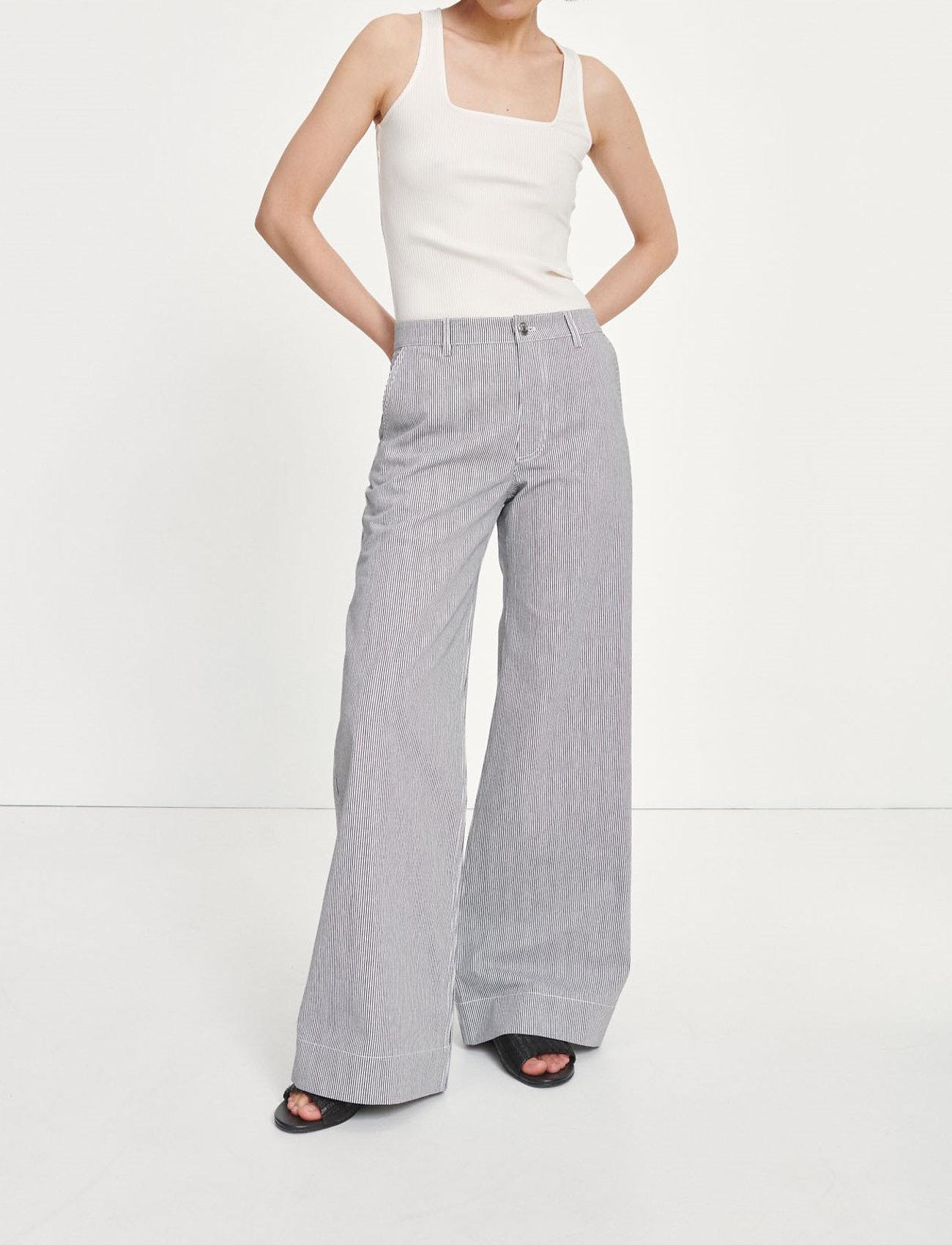 Samsøe Samsøe - Allie trousers 13158 - bukser med brede ben - milk boy st. - 0
