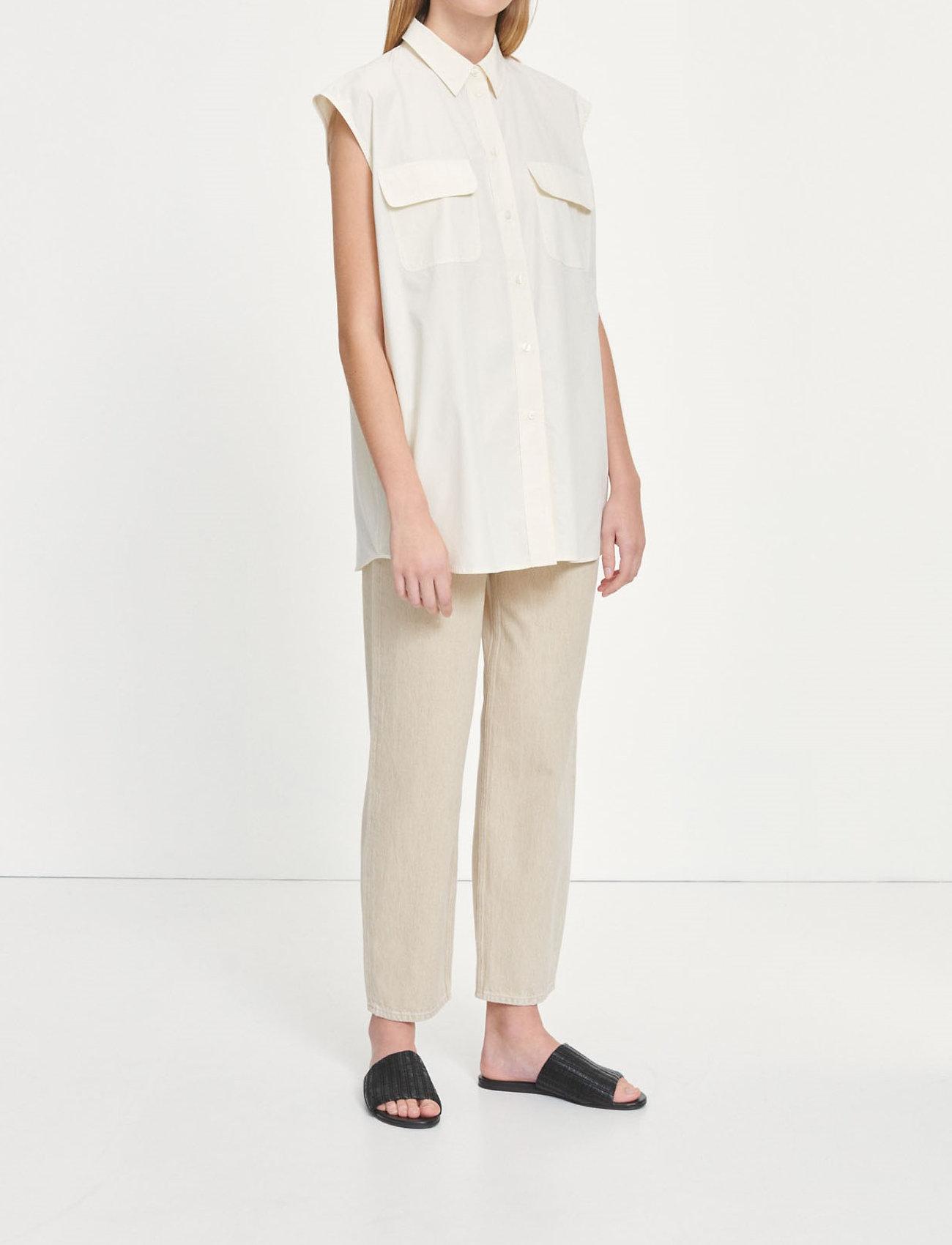 Samsøe Samsøe - Tea shirt top 11466 - denim shirts - antique white - 0