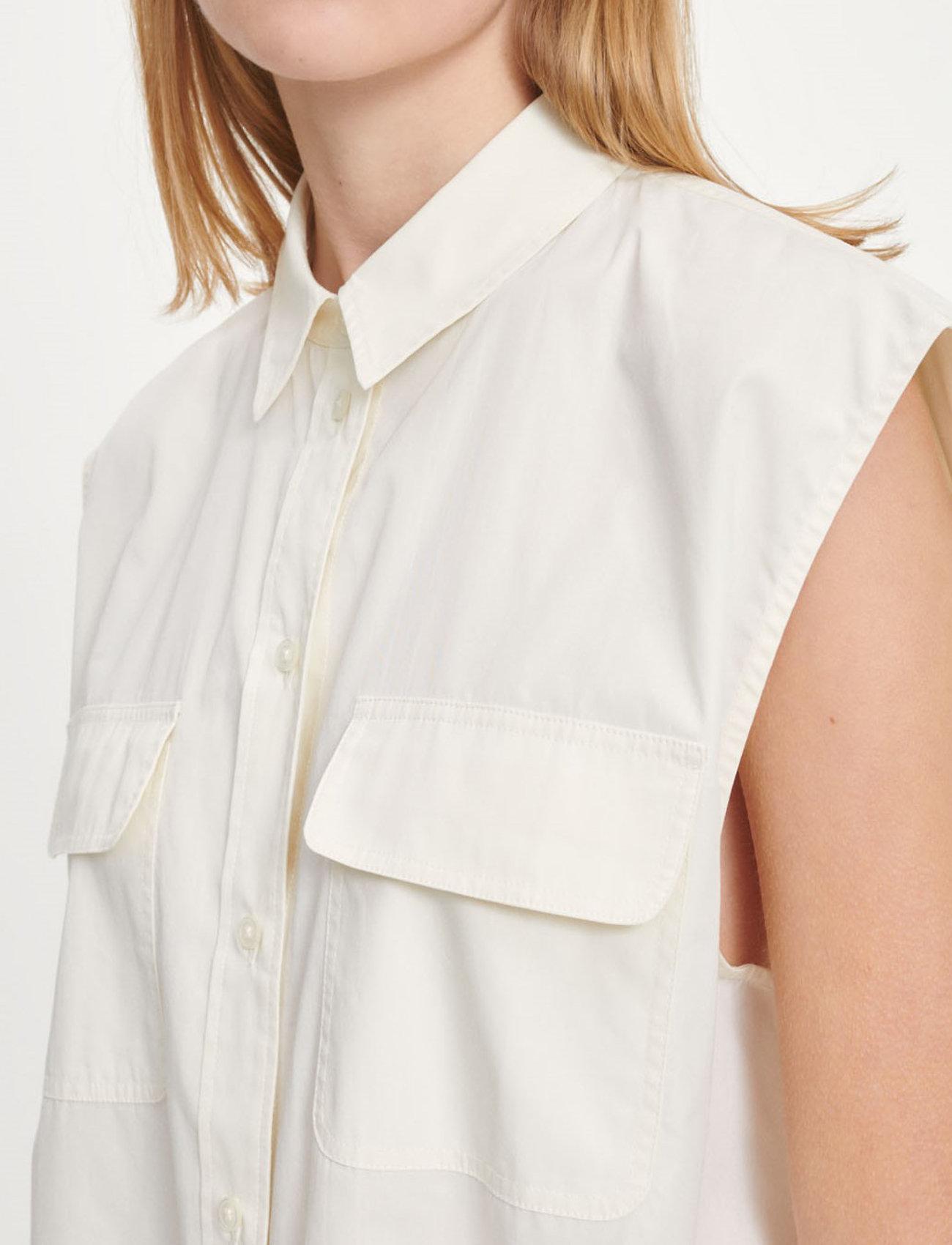 Samsøe Samsøe - Tea shirt top 11466 - denim shirts - antique white - 5