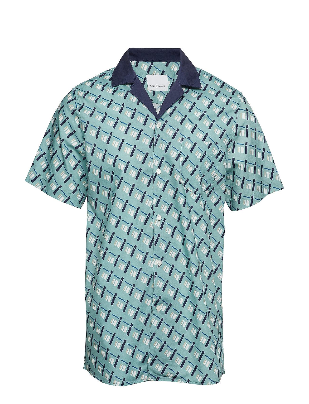 Samsøe & Samsøe Einar SA shirt aop 8015 - GREEN MATCHBOX