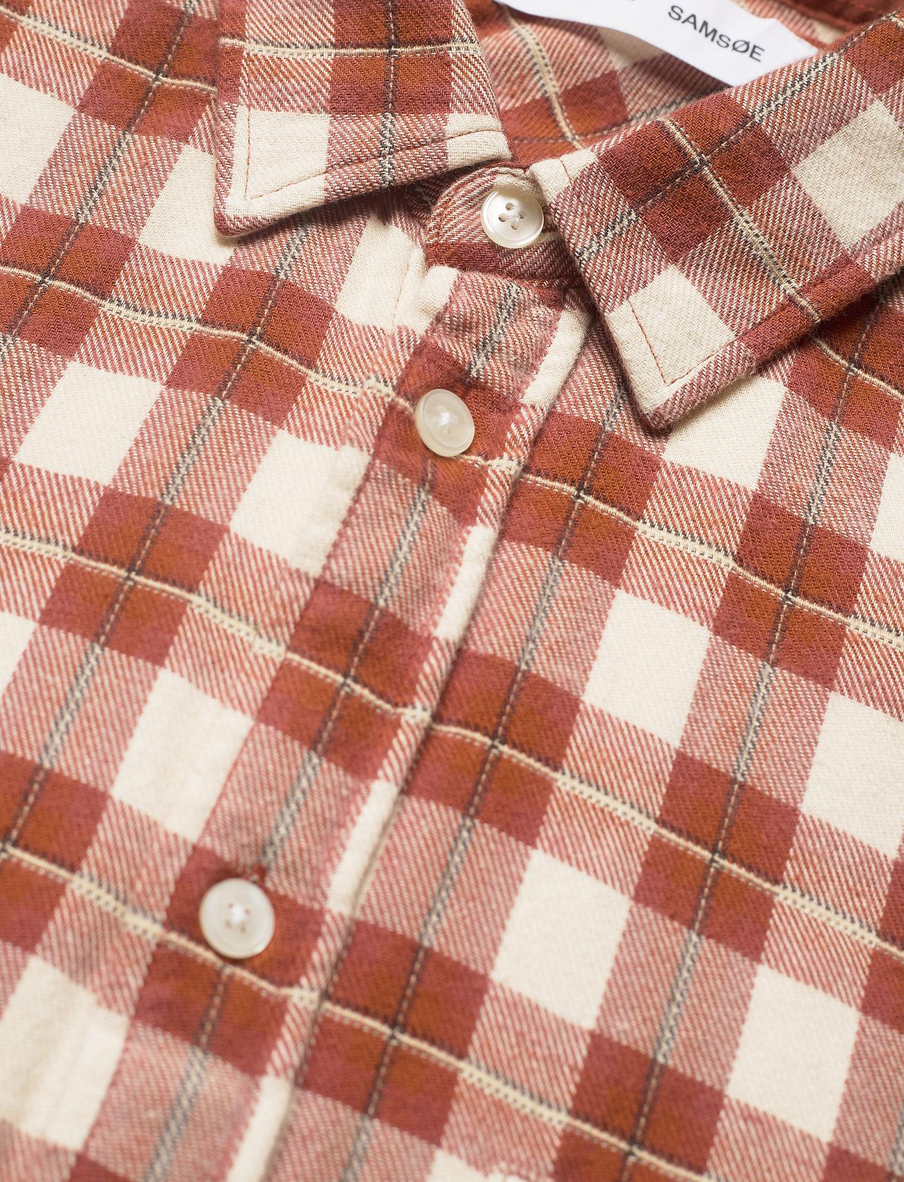 Samsøe Samsøe - Liam NP shirt 12961 - denimowe koszulki - brandy brown ch. - 3