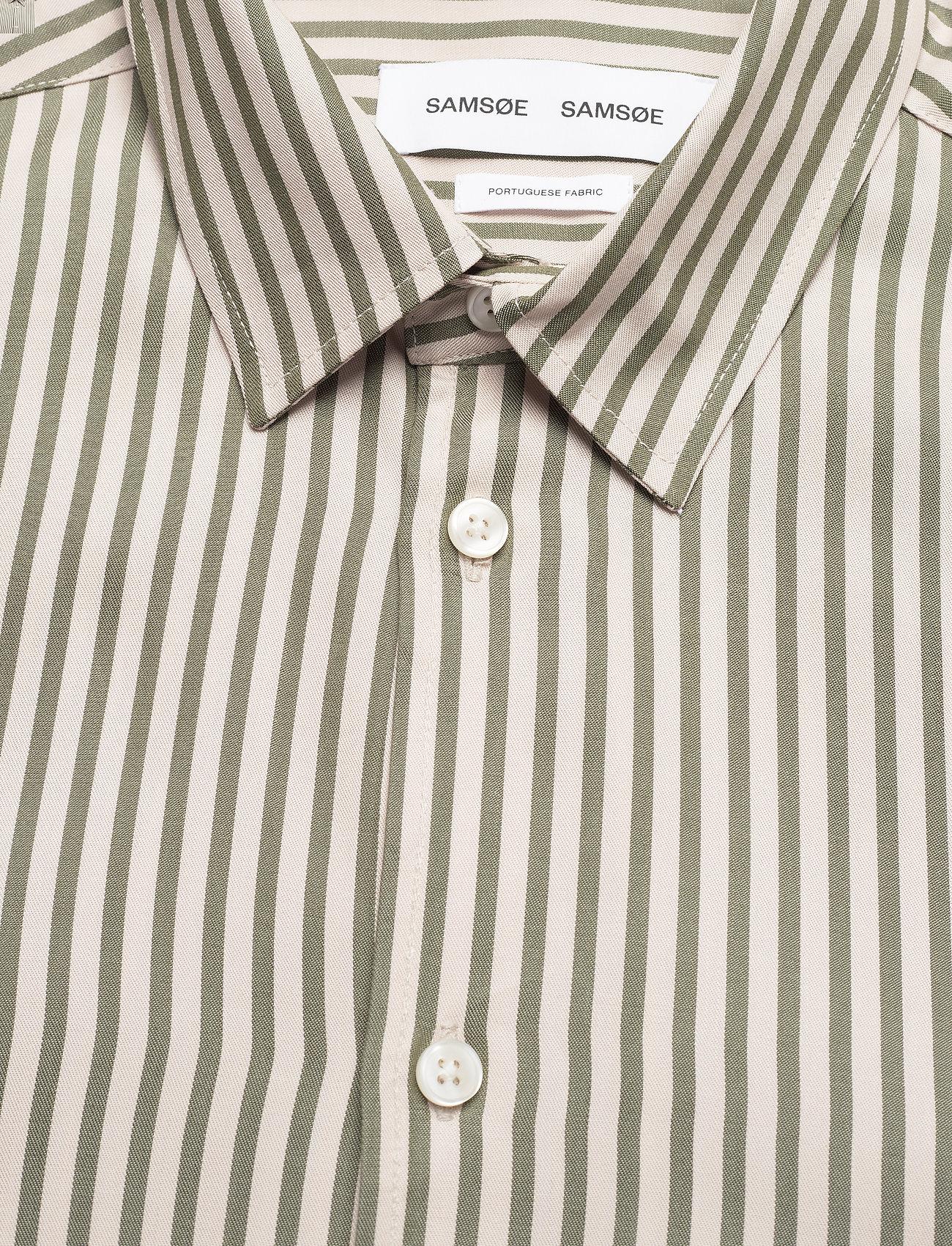 Samsøe Samsøe - Liam NX shirt 13084 - geruite overhemden - deep lichen green st. - 2