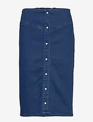 Samsøe Samsøe - Bertha long skirt 11492 - jeansowe spódnice - indigo blue - 0