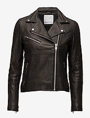 Samsøe Samsøe - Tautou jacket 2771 - kurtki skórzane - black - 2