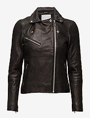 Samsøe Samsøe - Tautou jacket 2771 - kurtki skórzane - black - 3