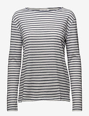 Samsøe Samsøe - Nobel ls stripe 3173 - striped t-shirts - 3173 blue stripe - 0