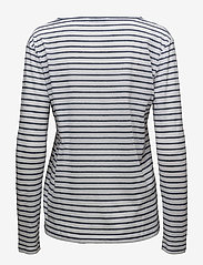 Samsøe Samsøe - Nobel ls stripe 3173 - striped t-shirts - 3173 blue stripe - 1