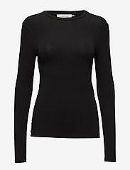 Samsøe Samsøe - Ester ls 265 - basic t-shirts - black - 0