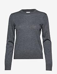 Samsøe Samsøe - Kleo crew neck 11265 - neulepuserot - dark grey mel. - 1