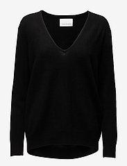 Samsøe Samsøe - Boston v-neck 6304 - džemperi - black - 0