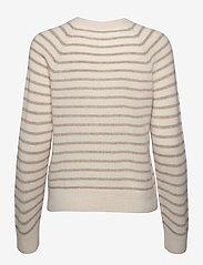 Samsøe Samsøe - Boston o-neck stripe 6304 - džemperi - whisper white st - 2