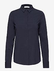 Samsøe Samsøe - Milly np shirt 9942 - pitkähihaiset paidat - dark sapphire - 0