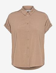 Samsøe Samsøe - Majan ss shirt 9942 - kortärmade skjortor - caribou - 1