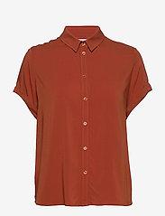 Samsøe Samsøe - Majan ss shirt 9942 - bluzki krotkim rekawem - picante - 0