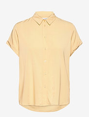 Samsøe Samsøe - Majan ss shirt 9942 - kortärmade skjortor - sahara sun - 0